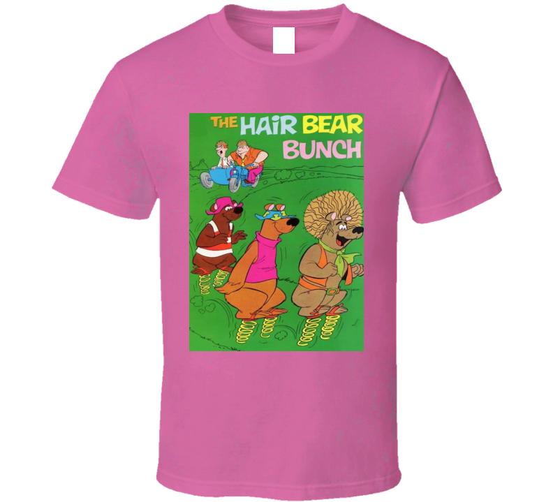 Help! It's The Hair Bear Bunch Cartoon 70s Adventures Three Fun-loving Hippie Bears Find A Way To Escape Wonderland Zoo Retro Animation Fan T Shirt
