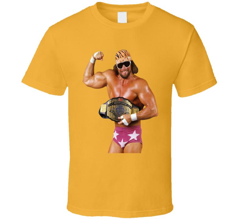 Macho Man Randy Savage Champion Belt Wrestling Retro Fan T Shirt