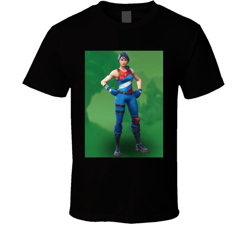 fortnite battle royale new skin character star spangled ranger outfit t shirt - star spangled ranger fortnite