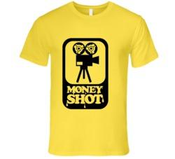 Money Shot t-shirt funny retro porn movie camera projector FUNNY DJ club wear