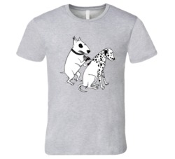 Dog Getting tattoo t-shirt Terrier tattooing dalmatian funny dog lover t-shirts