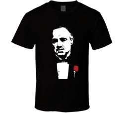 Godfather movie t-shirt Vito Corleone Marlon Brando famous Mafia movie shirts the Don COOL