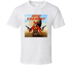 Yosemite Sam Back Off Varmint Cartoon t-shirt original Looney Tunes Saturday Morning cartoons Cowboy cartoon t-shirts