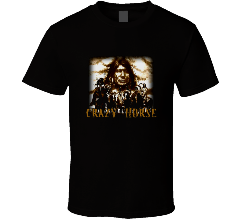 Crazy Horse Native American History t-shirt