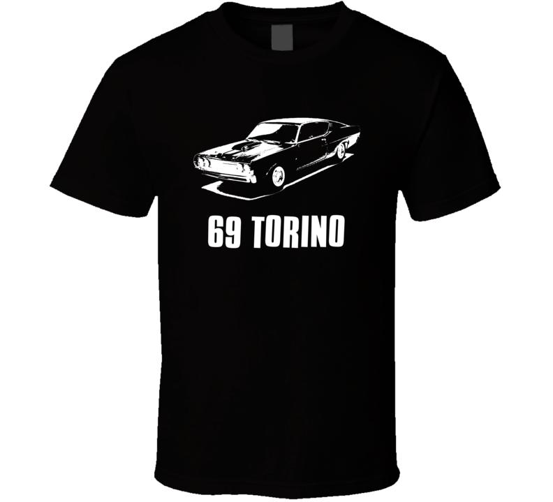 69 TORINO american retro muscle cars street racing Ford classic car t shirts