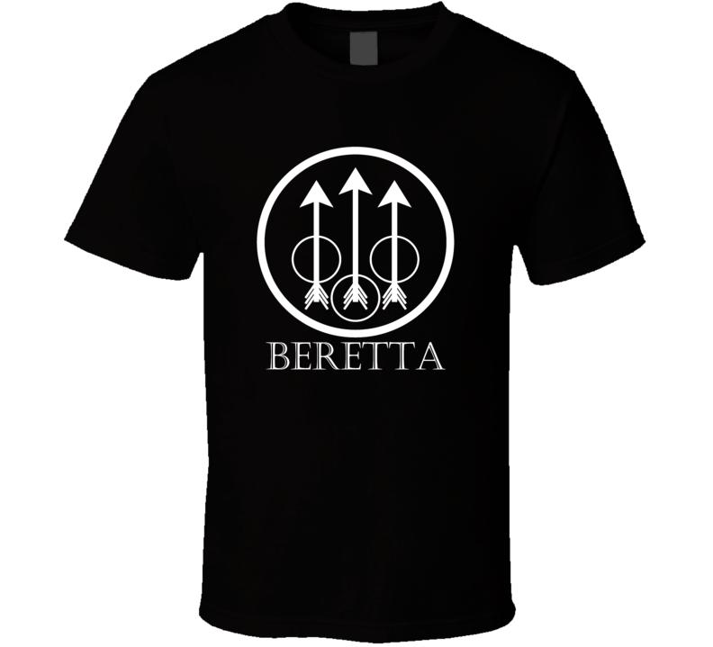 Beretta Italian hunting shooting sniper gun logo t-shirt