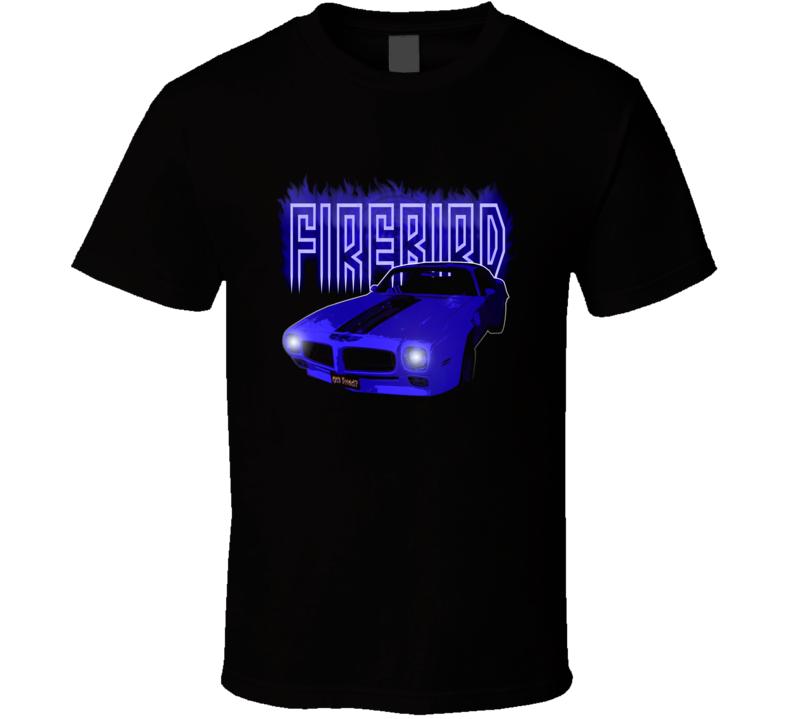 Pontiac Firebird 60s muscle car racing neon t-shirt