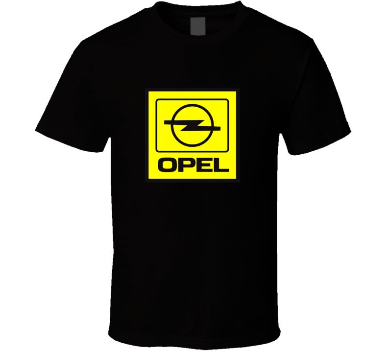 Opel French English British car brands logo t-shirt