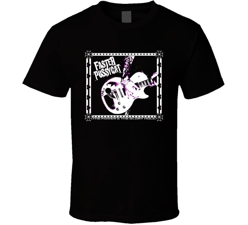 Faster Pussycat vintage rock poster album style fan t-shirt