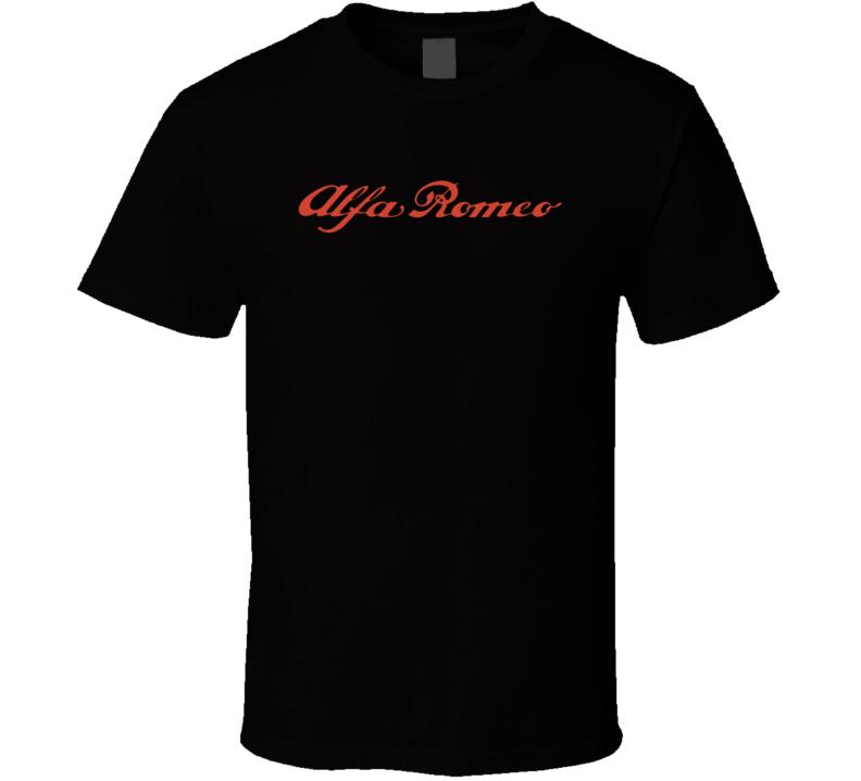 Alfa Romero classic Italian car logo t-shirt