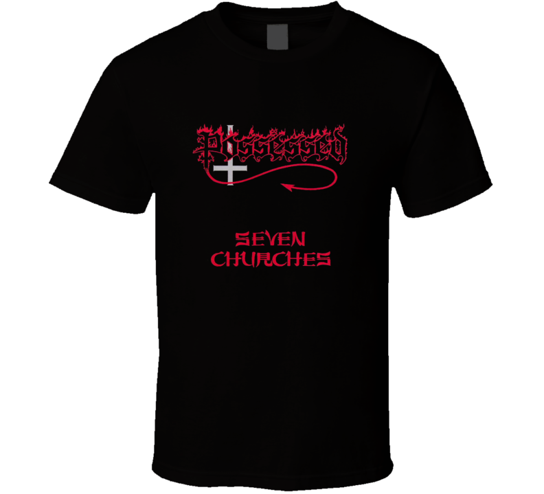 Possessed Seven Churches Death Metal band t-shirt