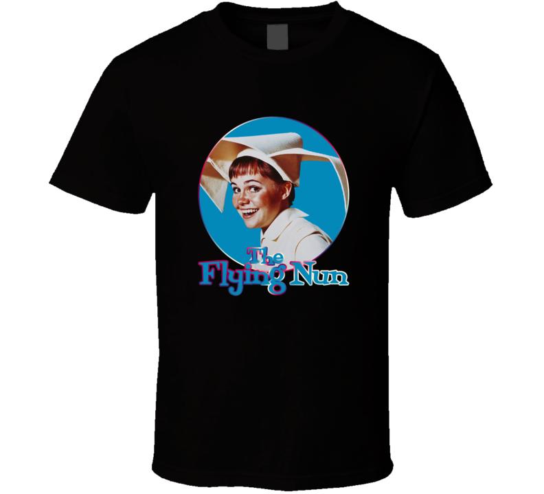 Sally Field flying The Flying Nun classic TV Series fan t-shirt