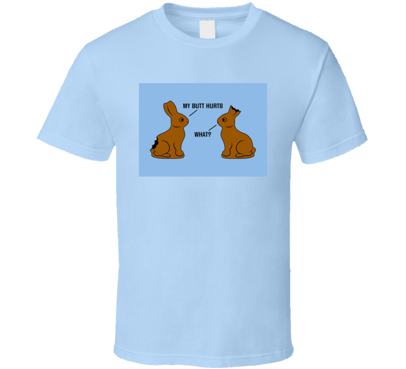 Easter Bunny t-shirt funny chocolate bunnies with bites - Holidays funny Christian
