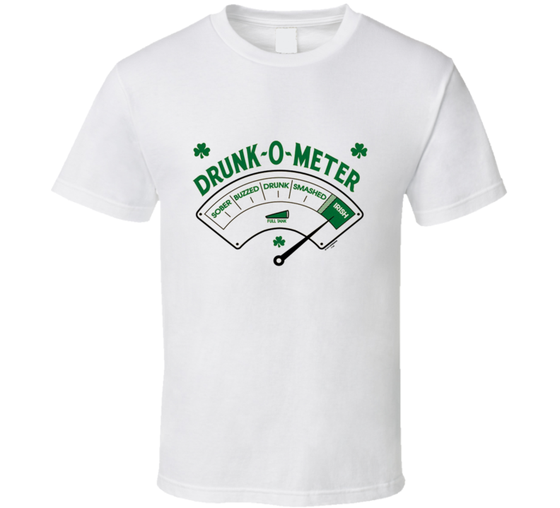 Drunk-o-Meter t-shirt funny beer pong Irish St. Patrick's Day