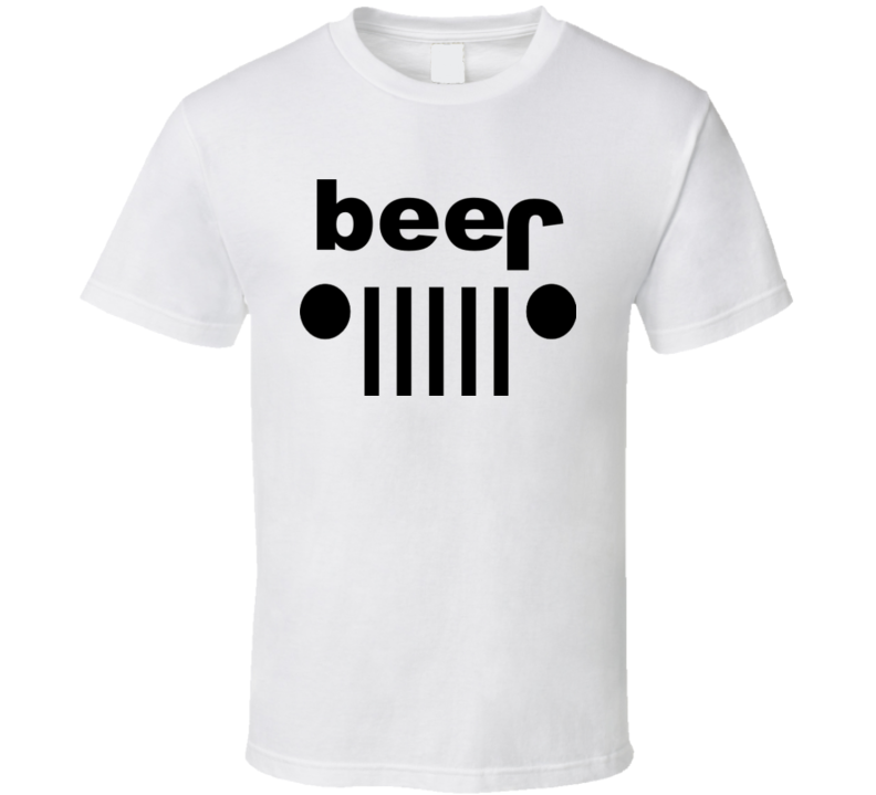 Beer Jeep Logo t-shirt 4x4 swag off-road