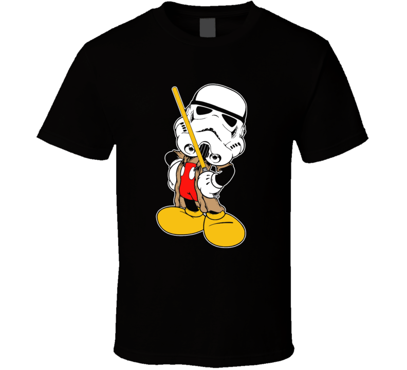 Mickey Mouse as Storm Trooper star wars t-shirt funny cool rtro movies