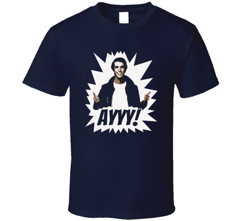 Happy Days retro t-shirt the Fonz ayyy! Henry Winkler 70's TV shows
