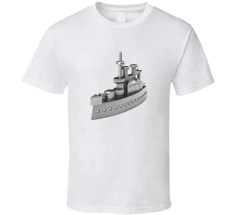 Monopoly Ship Game Token t-shirt Family Game Night Holiday wear Present