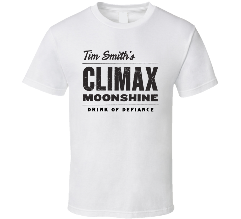 Moonshiners Climax t-shirt Tim Smith's Climax Moonshine Logo