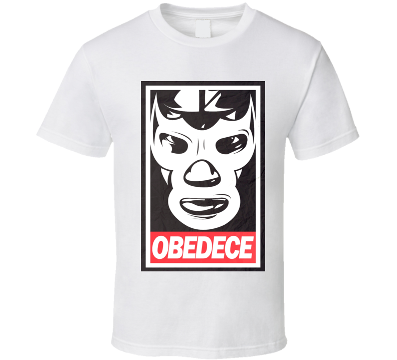Luchador Obey Obedece t-shirt Mexican Wrestling Masks VERY COOL!