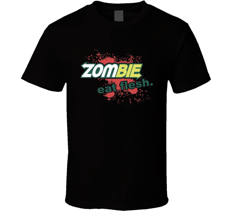 Subway Parody t-shirt Zombie Eat Fleash tee FUNNY Fast Food Heros Sub's
