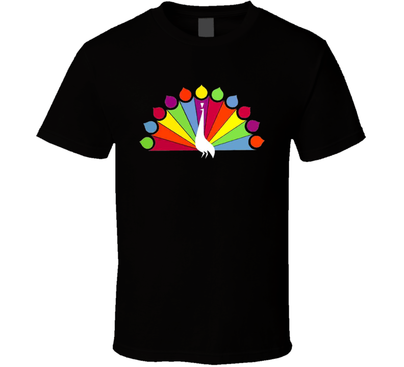 NBC Peacock Logo t-shirt USA Broadcaster Classic TV