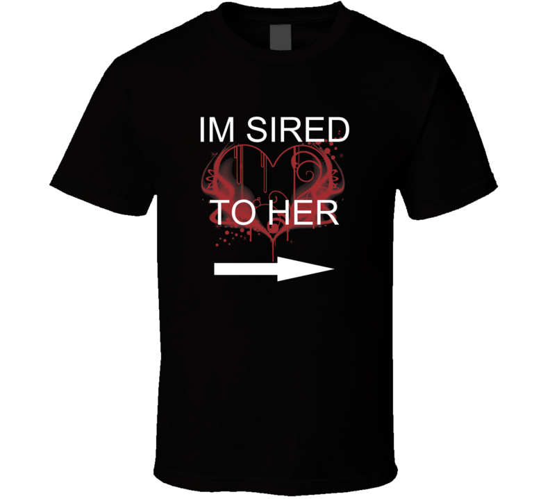 Sired to her Vampire Diaries t-shirt Emo Goth Vampire TV shows Sexy Vamps