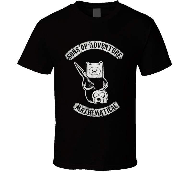 Sons of Adventure Mathematical t-shirt Adventure time Finn and JAke Funny COOL kids t-shirt