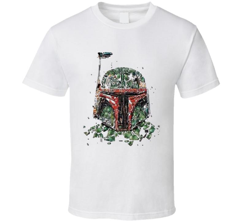 Boba Fett Star Wars t-shirt Bounty Hunter Cool distressed design t-shirt