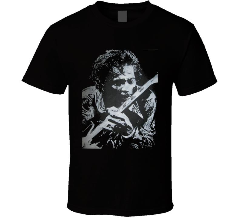 Chuck Berry t-shirt Rock and Roll Legend Guitar COOL Maybellene Johnny b Goode t-shirt