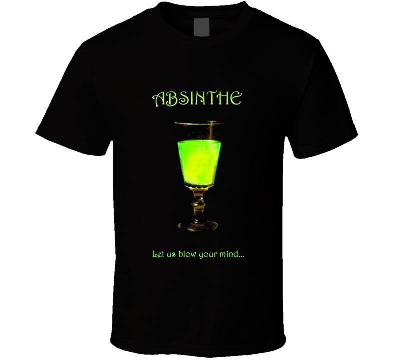 Absinthe Liquor t-shirt Blow your mind hypnotic alcohol t-shirt