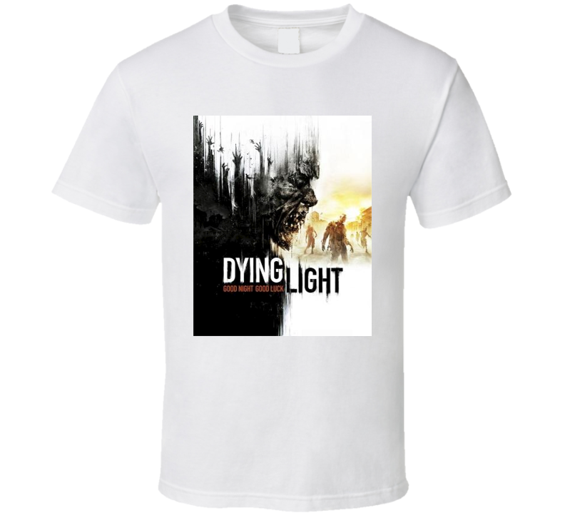 Dying Light Video Game Cover t-shirt Gamer Swag Geek Cool t-shirts