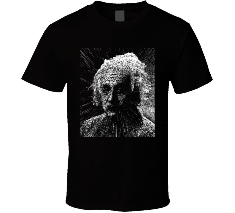 Albert Einstein Exploding Pixels T Shirt