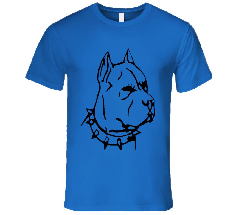 PitBull Dog Lover T-Shirt With Spike Collar AMAZING SHIRT