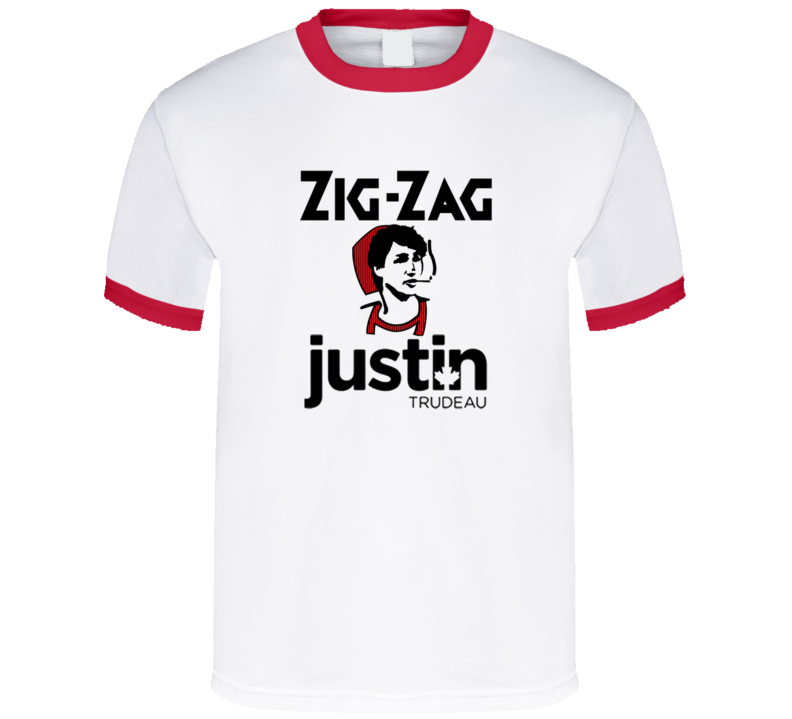 Justin Trudeau Zig-Zag Rolling Papers Liberal Party Legalize Marijuana Party t-shirts