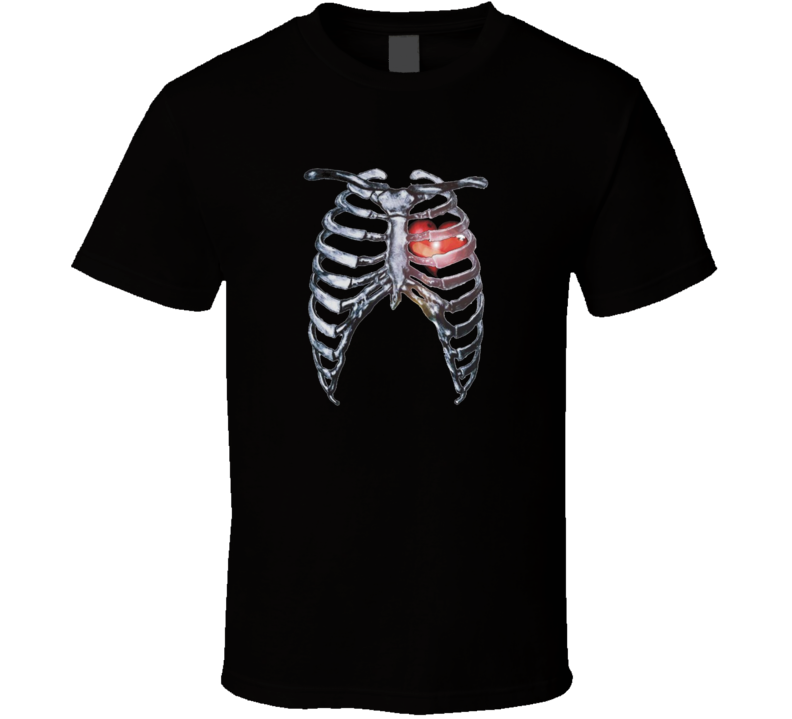 Human torso rib cage with heart t-shirt COOL skeleton Zombie t-shirts