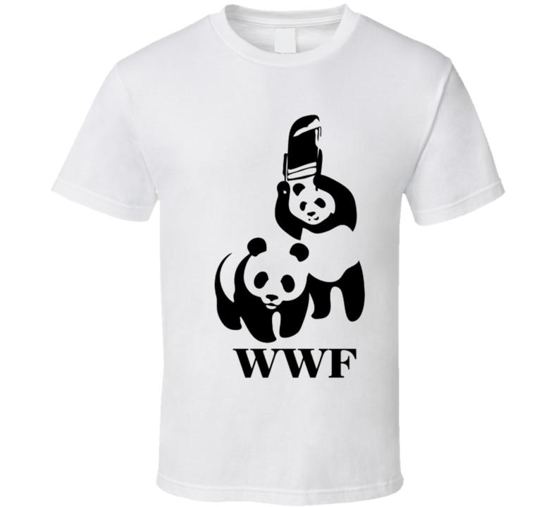 Pandas Wrestling Funny t-shirt WWF parody wrestling wildlife shirts