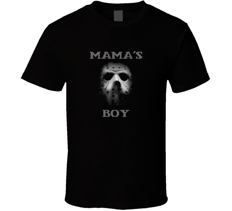 Friday the 13th Mama's Boy t-shirt Jason Voorhees Slasher film shirts