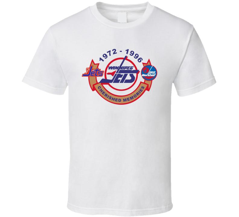 Winnipeg Jets Retro Hockey T-shirt Tribute 1972-1996 Pro Hockey Classics