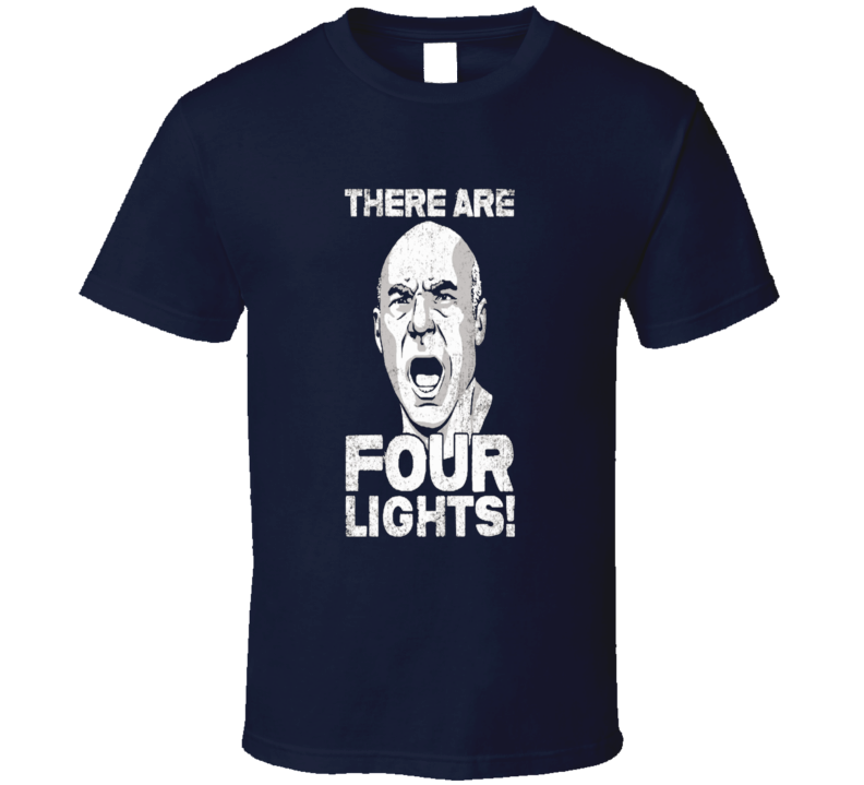 Star Trek Picard t-shirt There are four lights! Cool Sci-fi TV shirts
