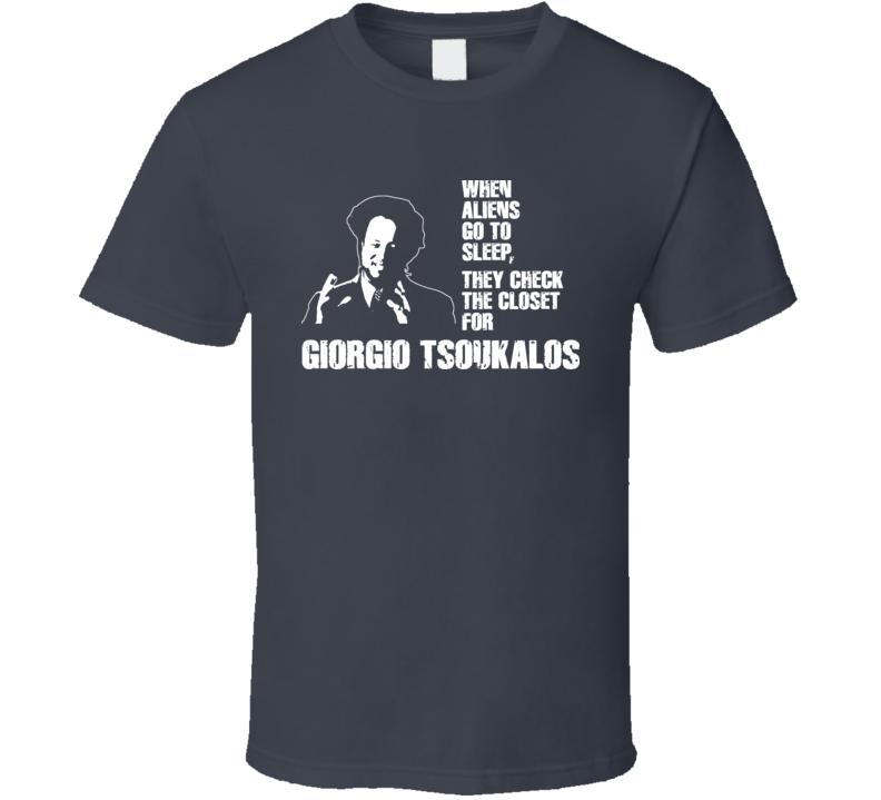 Giorgio Tsoukalos Ancient Aliens Guy When Aliens Go To Sleep Boogeyman T Shirt