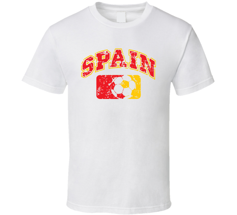 Spain World Cup Soccer Fan Country T Shirt