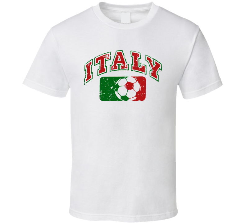 Italy World Cup Soccer Fan Country T Shirt
