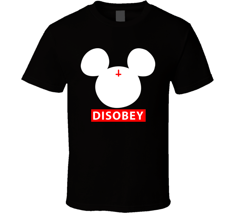 Disobey Mickey Punk Rock Funny Mouse T Shirt