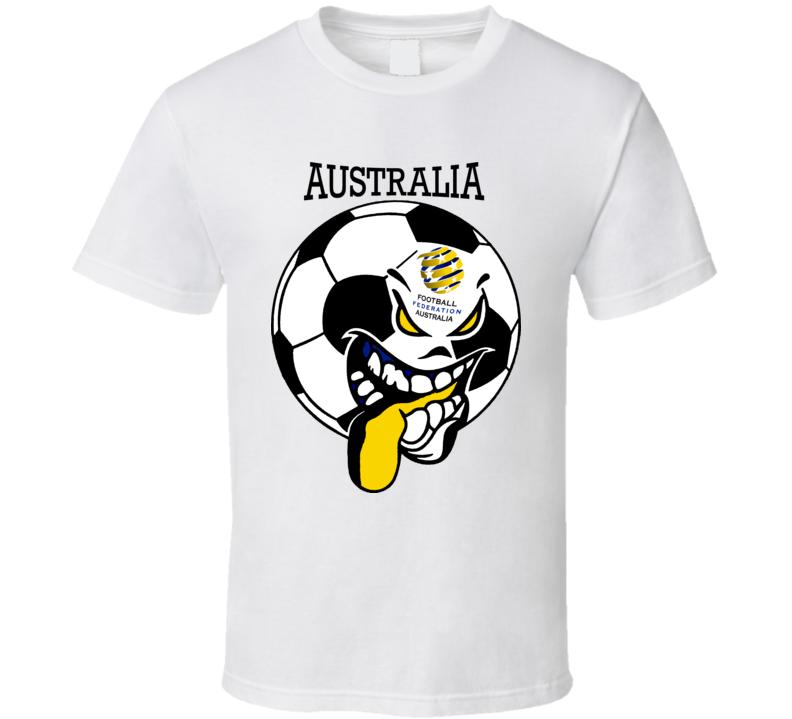 Australia Futbol Soccer Fan T Shirt