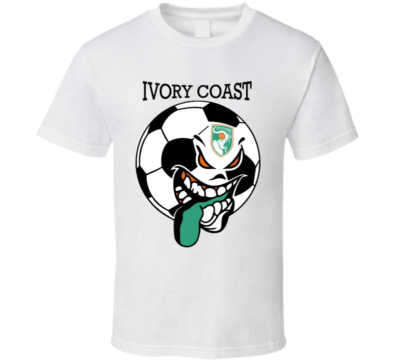 Ivory Coast Futbol Soccer Fan Mondial Aquipe Nationale Cote-d'Ivoire T Shirt