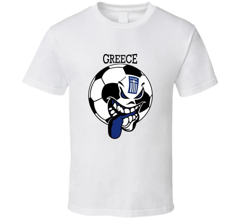 Greece Futbol Soccer Fan Mondial T Shirt