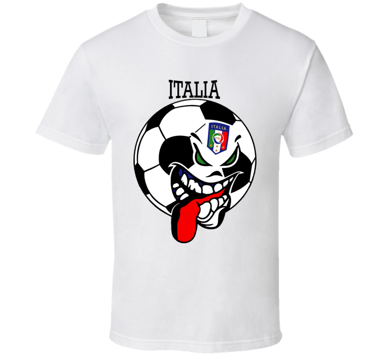 Italy Futbol Soccer Fan Mondial Italia T Shirt