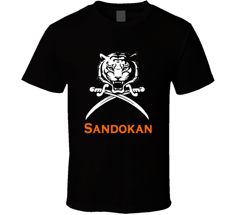 Sandokan retro TV movie Italian European TV Pirate shirt