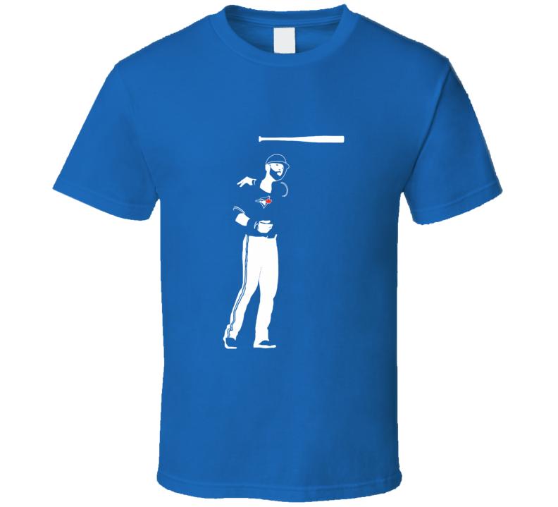 Jose Bautista 7th inning bat toss t shirt awesome Jays fan wear Joey Bats 19 ALCS baseball bat toss